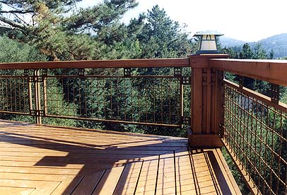 Cool deck railing ideas for Craftsman picture rail
